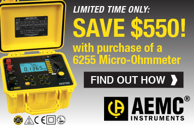 AEMC 6355 Rebate or a Limited Time, Save $550