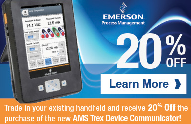 Trade in your existing handheld and receive 20% off a new  AMS Trex Device Communicator.