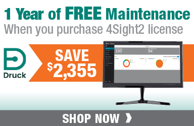 Get FREE Maintenance for 1 Year when you purchase a Druck 4Sight2-STD license!