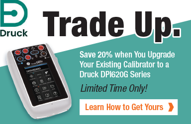 Trade in your existing calibrator and receive 20% off a new Druck DPI620 Genii!