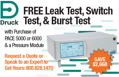 Get Free Switch Test, Leak Test & Burst Test with any Druck PACE5000 or 6000 Purchase!