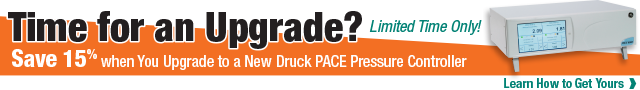 Get 15% off when You Upgrade in your Existing Controller to a Druck PACE Series Controller!