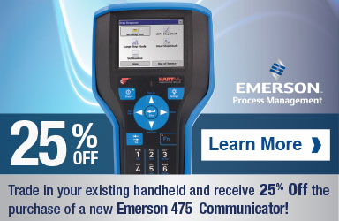 Save 25% when trading in your old handheld for a new Emerson 475 Communicator.