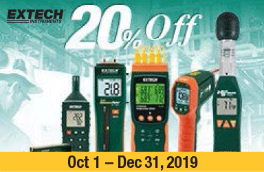 Buy Select Extech Instruments & Get 20% Off
