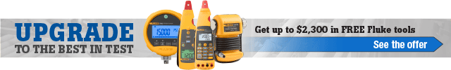 Get up to $2,300 in FREE Fluke Tools!
