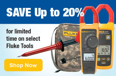 Save up to 20% on select Fluke tools for a limited time.