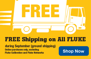 Free shipping off all fluke during the month of September