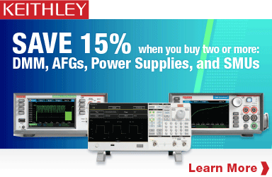 Save 15% when you buy two select Keithley products!
