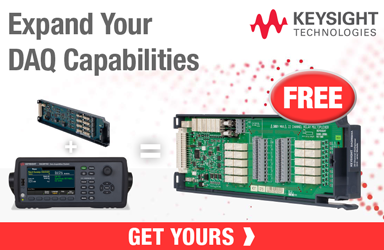 Get a FREE DAQM901A Module when you buy a Select DAQ and a DAQM909A Module!