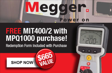 Free MEgger MIT 400/2 Insulation Tester with Purchase