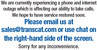 Please email sales@transcat.com or use chat to contact us. Phones are temporarily down.