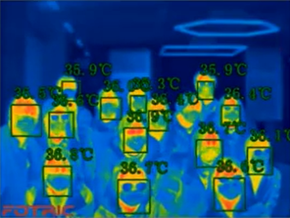 Figure 3: Locations of a 9-point Uniformity test in the calibration of a thermal imager/line scanner.