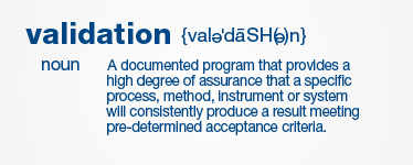 Transcat Validation Definition